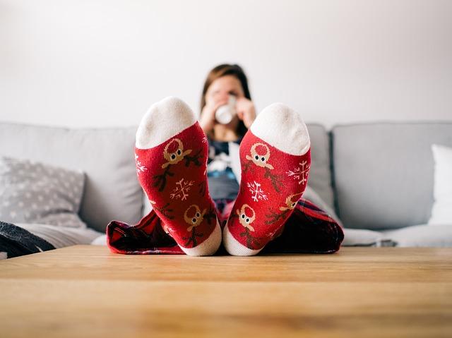 sváteční ponožky